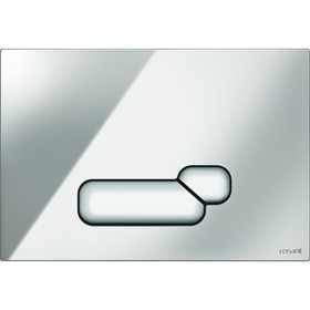 Кнопка Cersanit ACTIS, универсальная, хром блестящий Ош
