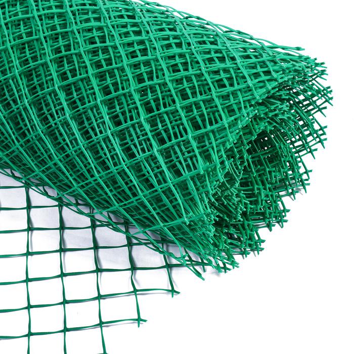 Сетка садовая, 1,5 × 25 м, ячейка 5,5 × 5,5 см, зелёная, Greengo