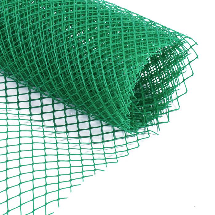 Сетка садовая, 1 × 5 м, ячейка 1,5 × 1,5 см зелёная, Greengo