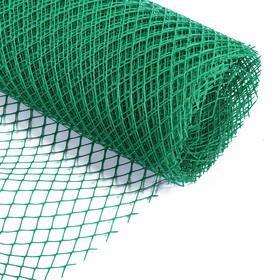 Сетка садовая, 2 × 20 м, ячейка 2,5 × 2,5 см, зелёная