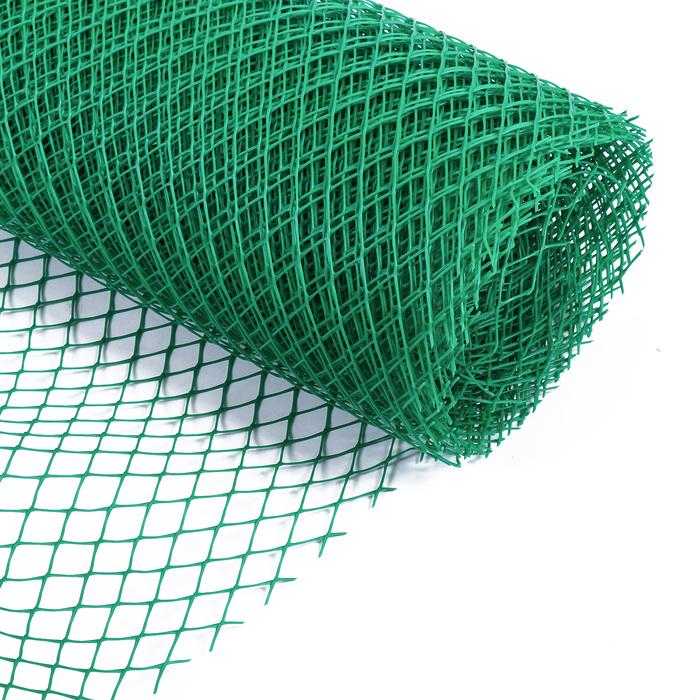 Сетка садовая, 2 × 20 м, ячейка 2,5 × 2,5 см зелёная