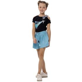 Джемпер для девочек, рост 164 см, цвет тёмно-синий