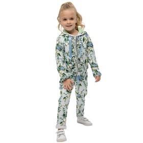 Джемпер для девочек, рост 104 см, цвет голубой