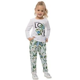 Джемпер для девочек, рост 110 см, цвет белый