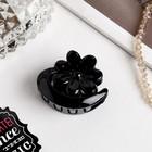 "Hair crab ""gloss"" flower 4 cm black"