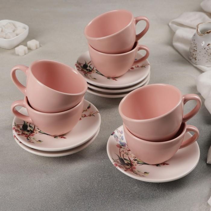 Сервиз чайный 12 предметов «Колибри»: 6 чашек, 6 блюдец