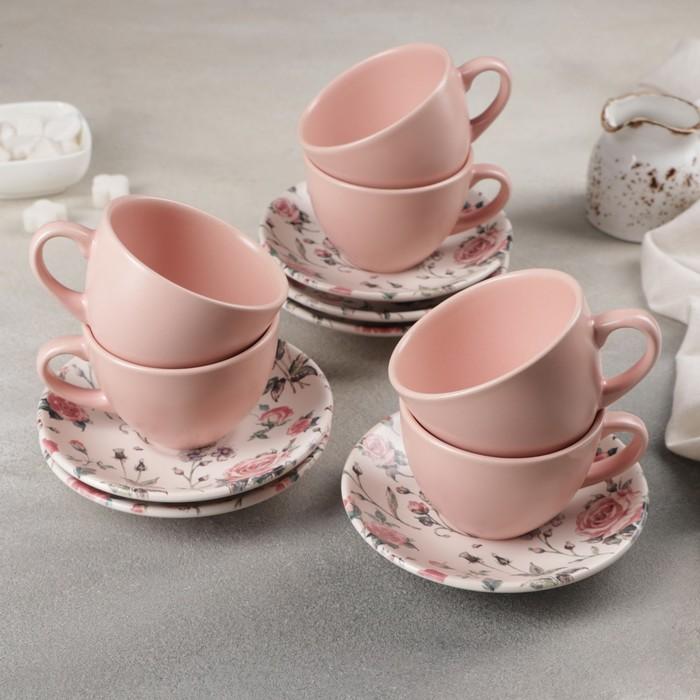 Сервиз чайный 12 предметов «Вернисаж», 6 чашек, 6 блюдец