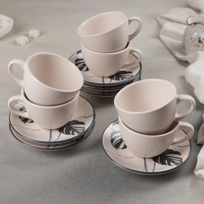Сервиз чайный 12 предметов «Папоротник»: 6 чашек, 6 блюдец