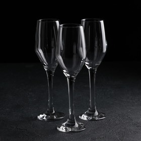 A set of glasses for champagne 3 pcs