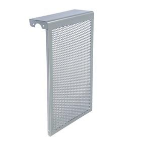 "Экран на чугунный радиатор ""Лидер"", 290х610х150 мм, 3 секции, металлический, цвет металлик"