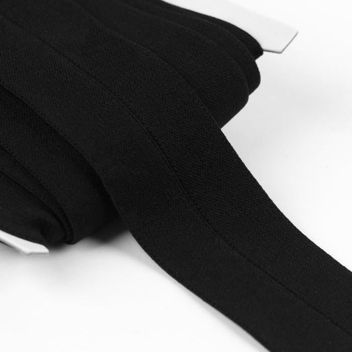 Резинка мягкая с перегибом, 40 мм, 5 ± 1 м, цвет чёрный
