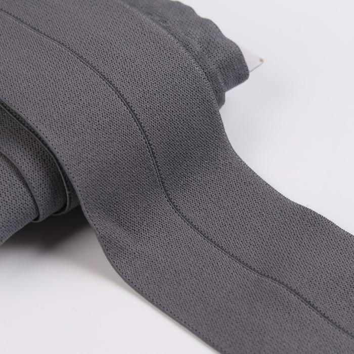 Резинка мягкая с перегибом, 60 мм, 5 ± 1 м, цвет серый - фото 687510