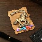 Magnet Horse, wood, plaster, 7х9 cm