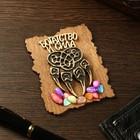 """Magnet """"Bear's paw"""", wood, plaster, 7х9 cm"""