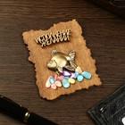 """Magnet """"Fish"""", wood, plaster, 7х9 cm"""