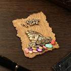 """Magnet """"Toad"""", wood, plaster, 7х9 cm"""