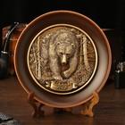"""Тарелка сувенирная """"Медведь Анфас"""", керамика, гипс, d=16 см"""