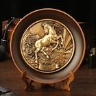 "Тарелка сувенирная ""Лошадь"", керамика, гипс, d=16 см"