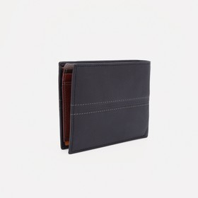 Портмоне мужское, 2 отдела, цвет коричневый - фото 60631