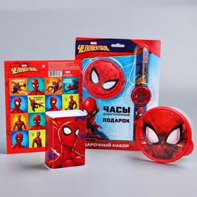 Gift set, spider-Man. Piggy Bank, watch, wallet, stickers, lunch box