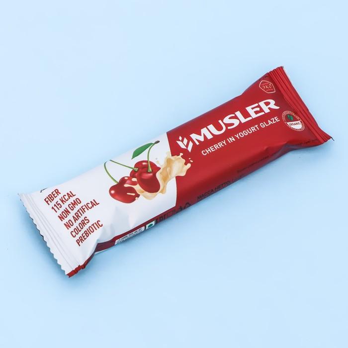 """Батончик мюсли """"Вишневый в йогуртовой глазури"""" MUSLER 30 г - фото 15791"""