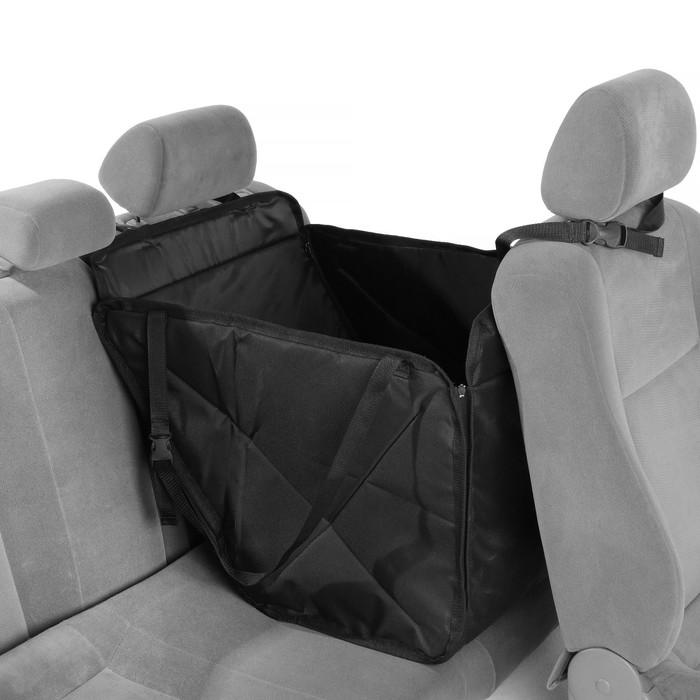 Гамак для перевозки животных, на заднее сиденье 145х165 см, 3 слоя с ПВХ 600 - фото 180691