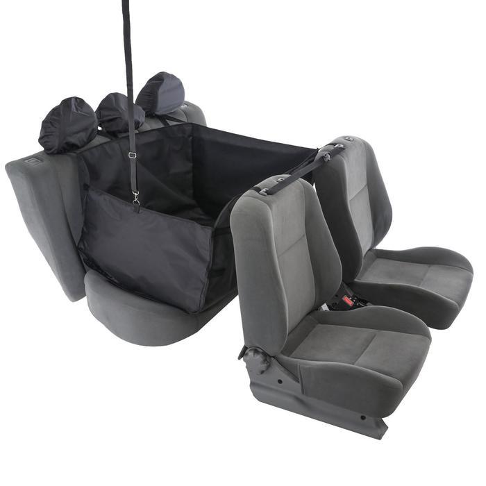 Гамак для перевозки животных, на 2 сиденья, молния, 145х165 см, ПВХ 600 поролон - фото 7400026