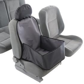Гамак для перевозки животных на переднее сидение, 40х40 см, серый, 3 слоя с ПВХ 601