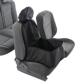 Гамак для перевозки животных на переднее сидение, 40х40 см, черный, 3 слоя с ПВХ 600
