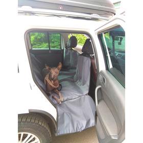 Автогамак Премиум для перевозки крупных животных, 145х165 см, черный, защита дверей   48693