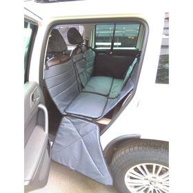 Автогамак-трансформер ЛЮКС для перевозки крупных собак 20+ кг, 145х165 см, серый, ПВХ600