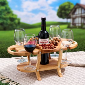 """Подставка с блюдом для вина и закусок """"Винница"""", 50х25 см"""