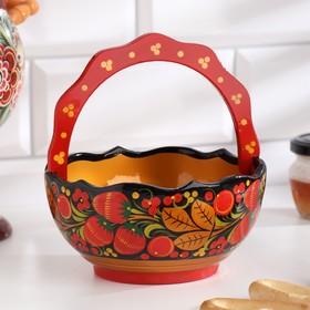 Basket 16x13 cm, Khokhloma