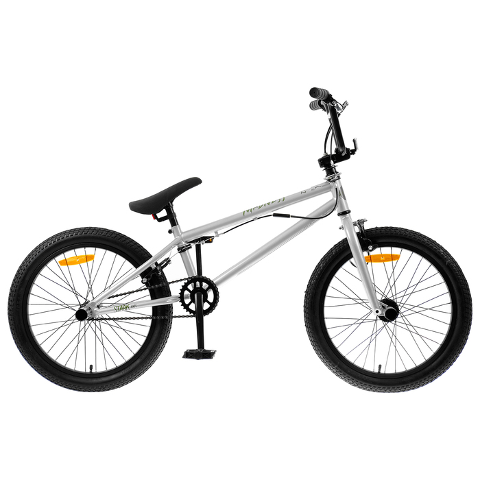 """Велосипед 20"""" Stark Madness BMX 2, 2019, цвет серебристый/зелёный"""