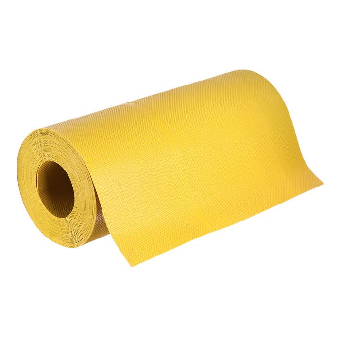 Лента бордюрная, 0.3 × 10 м, толщина 1.35 мм, пластиковая, жёлтая, Greengo