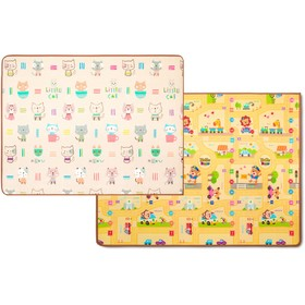 Двухсторонний коврик Prime Living «Котики/Веселый город», 150x200x1 см
