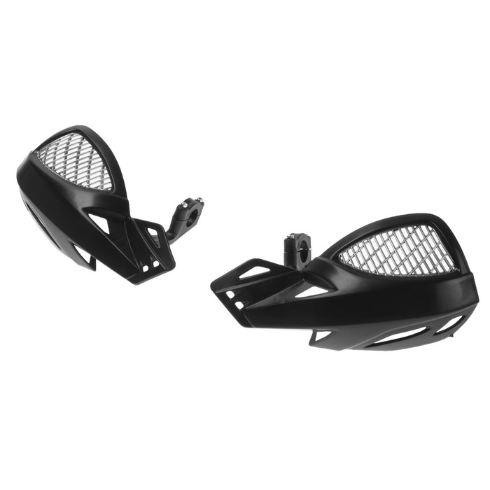 Защита рук на руль мотоцикла, пластик, черный, набор 2 шт
