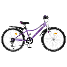"""Велосипед 24"""" Novatrack Alice, 2020, цвет лиловый, размер 10"""""""