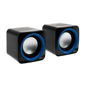 Computer speakers 2.0 Ritmix SP-2025, 2x2.5 W, USB, black and blue