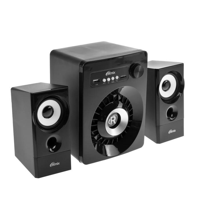 Компьютерные колонки 2.1 Ritmix SP-2165BTH, 2х3 Вт + 10 Вт, MP3, FM, BT, USB, черные