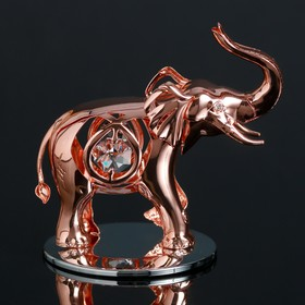 """Сувенир с кристаллами Swarovski """"Слон"""" 9,4х6,6 см"""