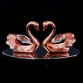 """Сувенир с кристаллами Swarovski """"Пара лебедей"""" 10,2х4,5 см"""