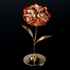 "Сувенир с кристаллами Swarovski ""Подсолнух"" 13,2х7,4 см"