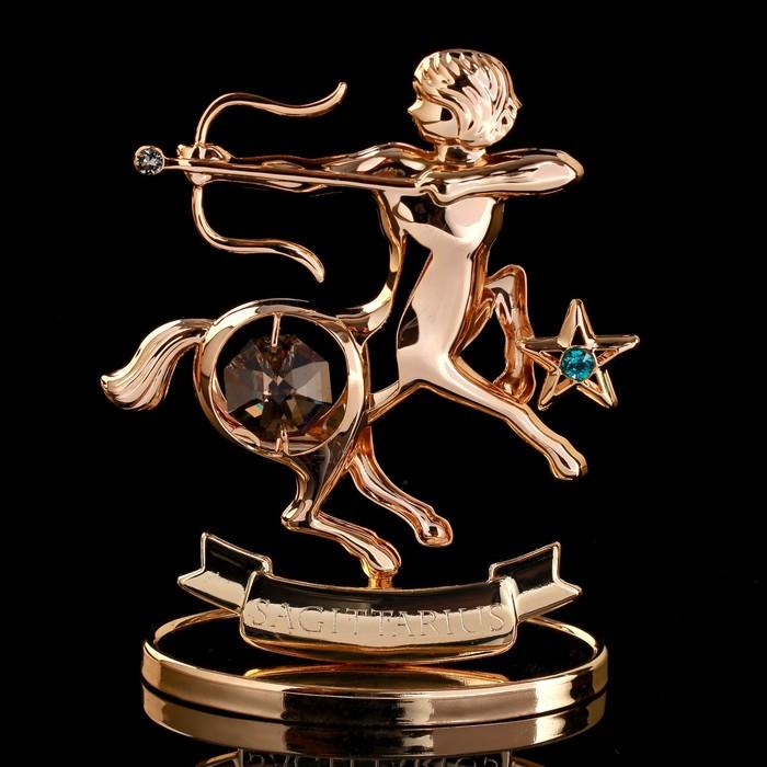 """Сувенир с кристаллами Swarovski """"Стрелец"""" 8,5х7,2 см"""