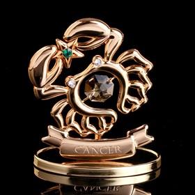"""Сувенир с кристаллами Swarovski """"Рак"""" 7,6х6,4 см"""