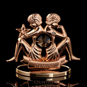 "Сувенир с кристаллами Swarovski ""Близнецы"" 8,6х7,1 см"