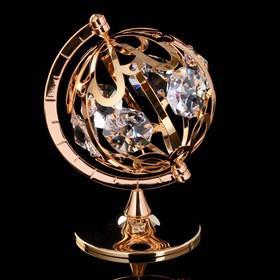 """Сувенир с кристаллами Swarovski """"Глобус"""" 9,3х6,7 см"""