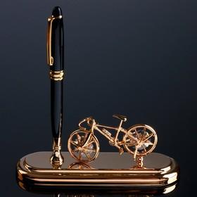 "Ручка на подставке ""Велосипед"" с кристаллами Swarovski 16,2х16,2 см"