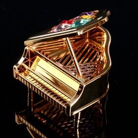 """Сувенир с кристаллами Swarovski """"Рояль"""" 7,1х6,8 см"""