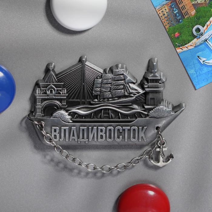 Магнит-корабль с якорем «Владивосток»